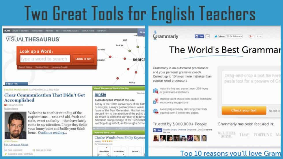 Two Great Tools for English Teachers