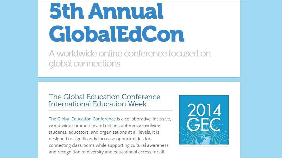 Join the 5th Annual Global Education Conference