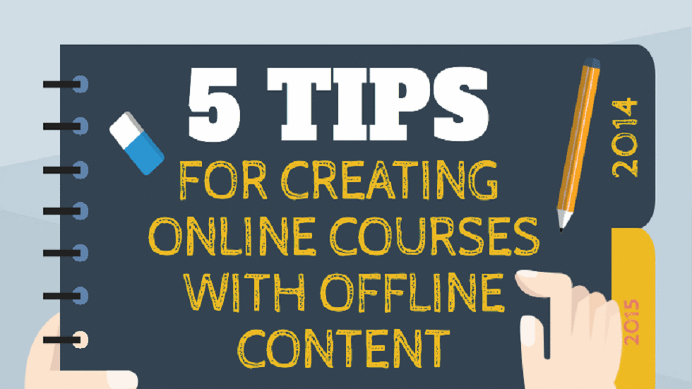 [Infographic] Tips for creating online courses with offline material