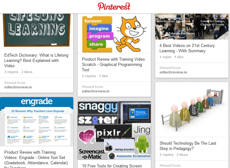 20 Pinterest Boards For Education Technology Enthusiasts