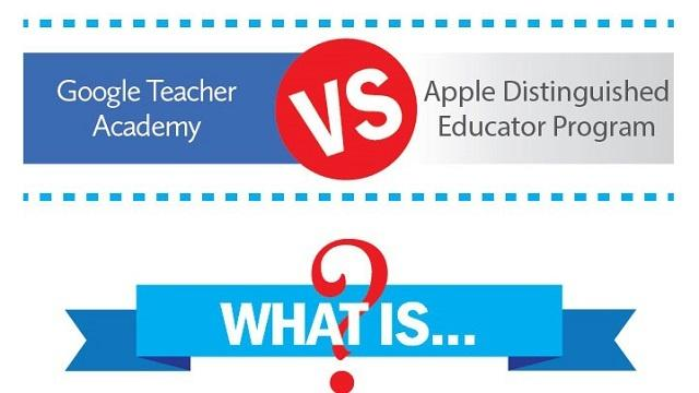 Google Teacher Academy vs. Apple Distinguished Educator Program [Infographic]