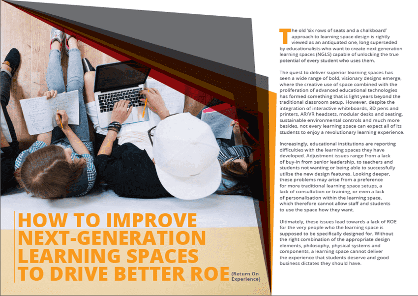 How to Improve Next-Generation Learning Spaces to Drive Better Roe