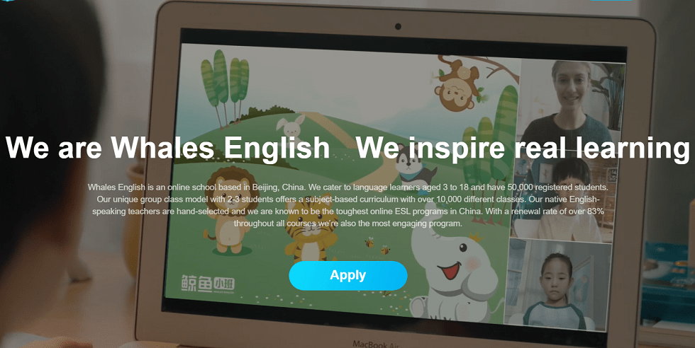 Chinese Online English Learning School Whales English Gets RMB100M Funding from Sino-Ocean Capital, Others
