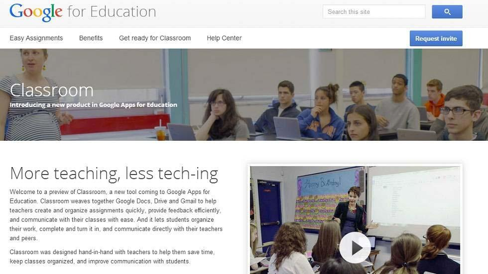 Google Classroom, Online Environment for Students and Teachers, is Launched Globally