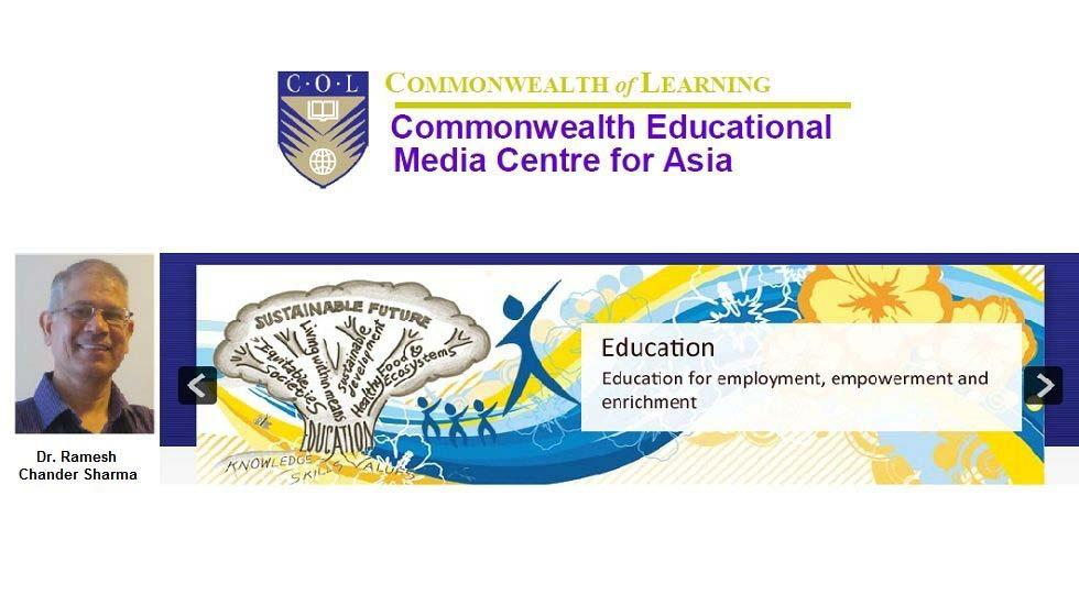 Dr. Ramesh Chander Sharma to head Commonwealth Educational Media Centre for Asia, New Delhi