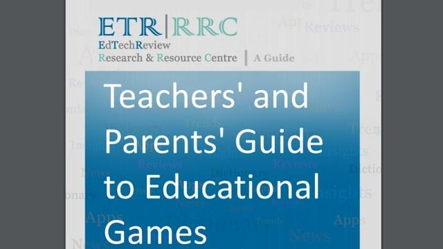 Teachers' and Parents' Guide to Educational Games
