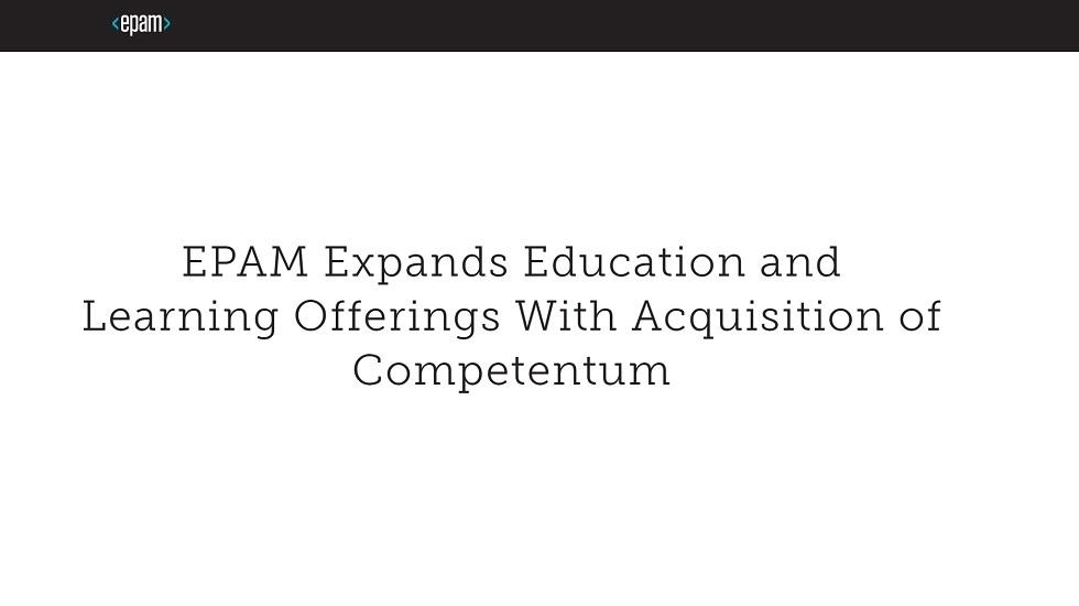 EPAM Expands Education & Learning Offerings with Acquisition of Competentum