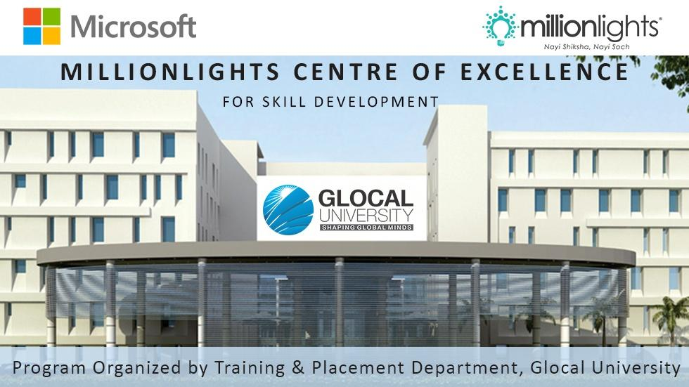 Glocal University Partners with Millionlights to Create the Centre of Excellence