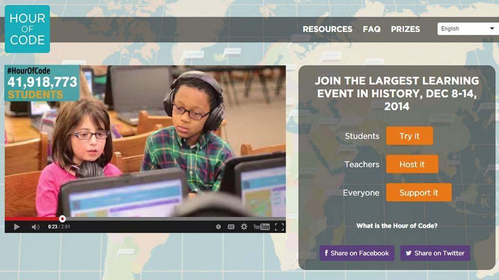 Hour of Code: A Worldwide Movement to Get Kids to Learn More About How Their Technological World Works