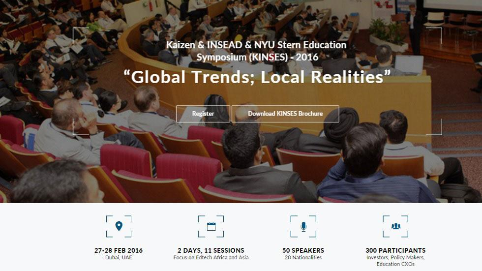 Kaizen, INSEAD & NYU Stern Education Symposium (KINSES) 2016