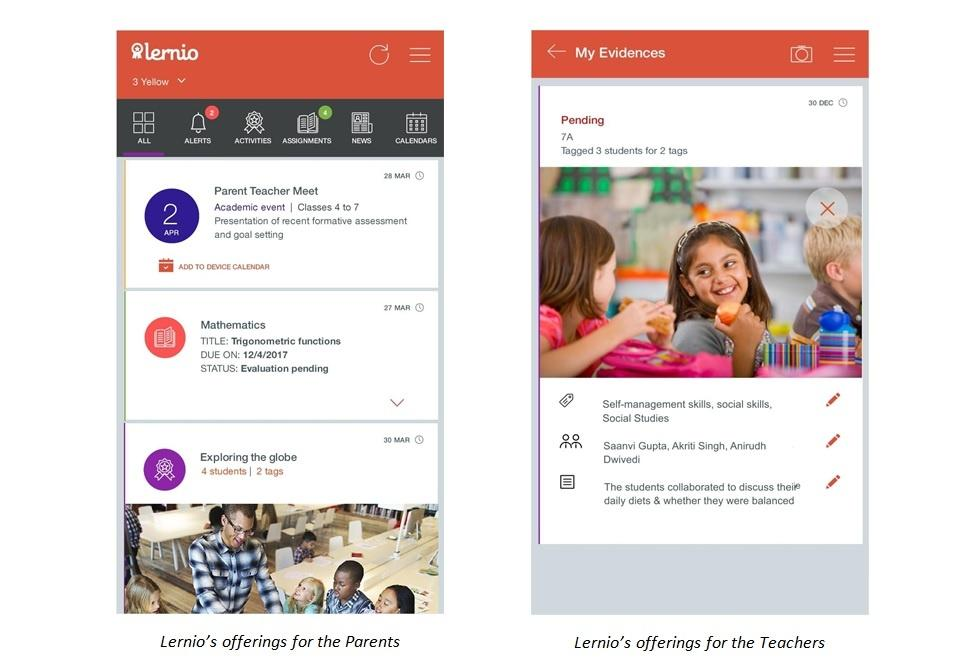 Celebrate Student Learning with 'Lernio' - A Facebook Like Communication App for Schools