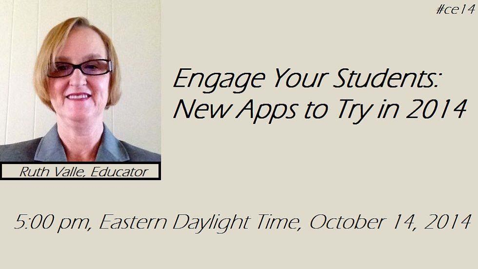 [Free Webinar] Engaging Your Students: New Apps to Try in 2014