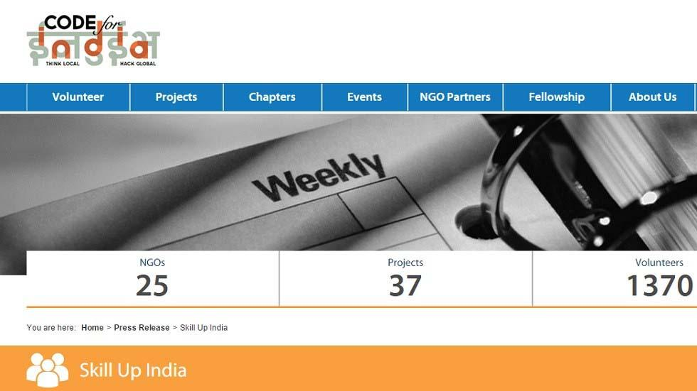 """Skill Up India"" Free Online Education Portal Launched By Code For India Organization"