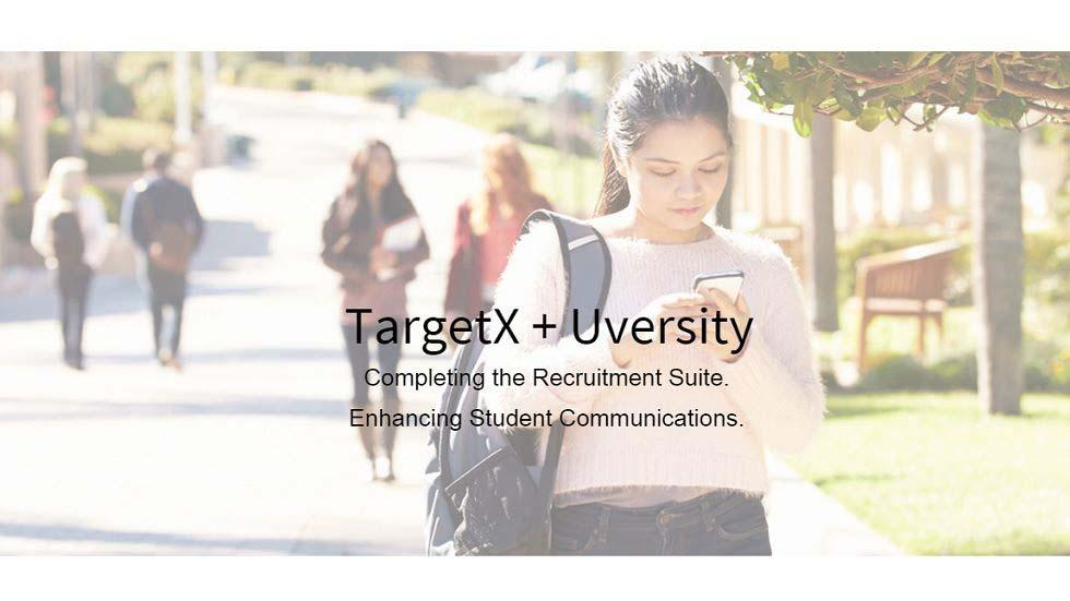 TargetX Acquires San-Francisco-based Uversity, Leading Mobile and Enrollment Analytics Company in Higher Education