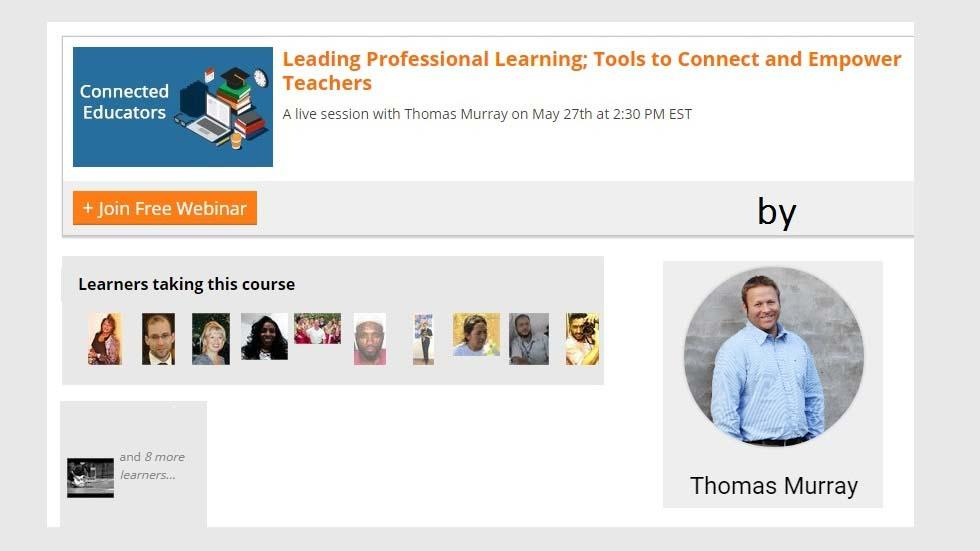 Tom Murray to Share Insights on Leading Professional Learning